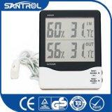 Temperatura de interior y al aire libre y termómetro de la humedad