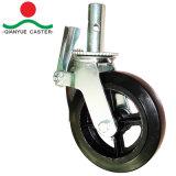 6in 8in PU Formen-auf Stahlrad-Baugerüst-Fußrolle