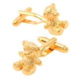 Mancuernas encantadoras plateadas oro del oso de VAGULA
