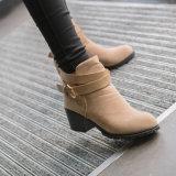 La cheville ronde Martin de circuit de tep de mode d'automne amorce les gaines inférieures en caoutchouc en cuir de femmes d'unité centrale