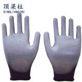 13 Anzeigeinstrument gestrickte beschichtete farbige PU-Arbeits-Handschuhe mit Cer