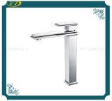 Faucet de bronze sanitário do dissipador da bacia da alavanca da forma único