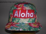 Крышка спорта Snapback ткани нового типа Гавайских островов флористическая для изготовленный на заказ конструкции логоса