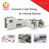 Corte longitudinal e cartões de recolher a máquina
