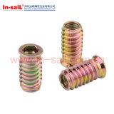 木工業のための鋼鉄亜鉛糸の挿入