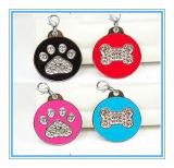 Commerce de gros bon marché de promotion de métal blanc personnalisé ID Pet Dog Tag pour chien