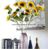 Fiore artificiale capo di seta del mestiere del girasole della nuova di modo decorazione della casa grande per il mazzo