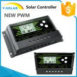 새로운 PWM 20AMP 12V/24V 자동 역광선 이중 USB 태양 관제사 Z20
