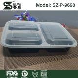 I contenitori della preparazione del pasto 3 contenitori di memoria dell'alimento delle caselle di pranzo dello scompartimento con i coperchi BPA liberano