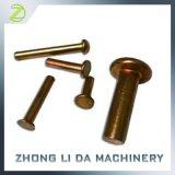 O alumínio principal redondo dos rebites contínuos rebita os rebites de cobre