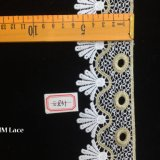 fita elegante do envoltório de presente do casamento de 6cm, guarnição nupcial Scalloped Hme831 do laço do véu da curva