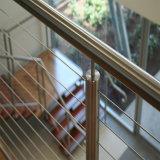 La calidad de la altura de 304 316 El Cable de acero inoxidable Barandillas y pasamanos para escaleras/ Balcón
