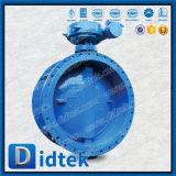 Didtek PN10 Triple de gran tamaño de la brida Válvula de mariposa