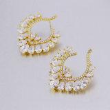 질 18K Gold Plated Party Jewelry 미국 Diamond Earring
