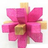 A mágica colorida da inteligência 3D cuba das crianças de madeira do presente da provocação do cérebro brinquedos educacionais do enigma dos blocos para adultos dos miúdos