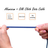 Cable de datos trenzado de la sinc. del cargador del USB de la tela colorida para el iPhone/Samsung/el Tipo-c