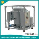 Marca Lushun 6000 litros/h Mobile filtración de vacío de tipo purificador de aceite de transformadores.