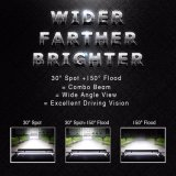 4 barre lumineuse élevée d'éclairage LED du camion 500W de la rangée 20inch 8d