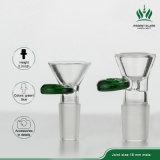 Gemeinsame Glasmünze des Grün-18mm 14mm rollt männliches Glasrohr für grosse Glaspfeife