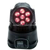 7X12W 5 In1 LED 소형 이동하는 헤드 LED 세척 선잠기 점화