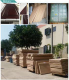 Portello interno di legno scorrevole/piegante della scaletta e della guida della vetroresina francese del patio