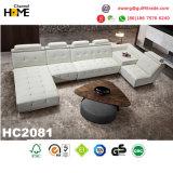 セットされるPurplarの現代家具の青い革角のソファー(HC2009)