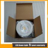 상업적인 점화를 위한 백색 알루미늄 주거 12W 옥수수 속 LED Downlight
