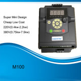 M100 lecteur variable VFD de fréquence à C.A. du coût bas 220V 380V