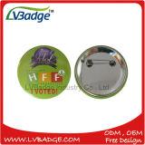 Hot Tin personalizado insignia de botón para imprimir