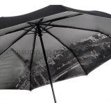 Parapluie se pliant d'OEM avec la lampe-torche réglable de torche de traitement