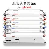 Botón de galvanoplastia 1.0mm compacto Teléfono de TPU para iPhone 8