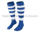 Neue blaue strickende Customerized Firmenzeichen-Mann-Sport-Fußball-Socken