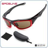 Os óculos de sol azuis quadrados austeros feito-à-medida Unbreakable do frame possuem a pesca da equitação do tipo que compete vidros das atividades ao ar livre