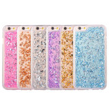Tampa macia brilhante do caso de Bling TPU do ouro para o iPhone 6/6s/7plus