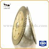 Hoja de sierra Turbo sinterizado prensado en caliente de la hoja de sierra de diamante para marmol granito piedra caliza