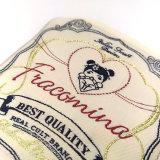Etiquetas tecidas logotipo feitas malha coloridas feitas sob encomenda para o vestuário