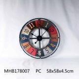 Home Decor Metal et le MDF Horloge murale avec finition noire