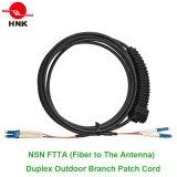 Cordon de connexion de dépliement arbitraire duplex du connecteur 5.0mm Ftta de NNO LC