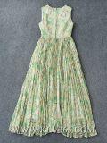 Женщины конструкции верхнего качества плиссировали официально длиннее платье вечера