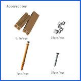 Decking/plancher composés en plastique en bois creux décoratifs en gros durables avec le prix concurrentiel