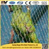 O cabo flexível atado do aço inoxidável virola decorativa X-Tende o engranzamento animal do jardim zoológico do Aviary da corda