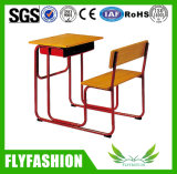 Solo escritorio barato combinado y silla (SF-98S) del estudiante