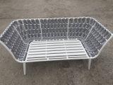 Tejido de la correa de bastidor de aluminio Muebles de Exterior sofá 2 plazas