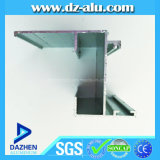 Гинея 6063 T5 прессовала алюминиевый квадратный профиль с серебром анодированным скольжением для того чтобы сделать Windows и двери