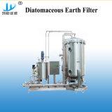 Diatomita Vertical Filtro de agua con depósito de reciclaje