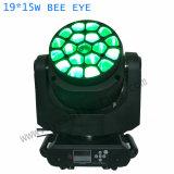 DJ DMX512 19X15W 광속 LED 이동하는 맨 위 가벼운 B 눈 K10
