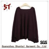Casual de alta qualidade OEM grande gargalo V suéter tricô para Mulheres