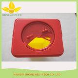 Gelber medizinischer Scharf-Plastikbehälter