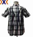 Camicia stampata del giovane con CVC il plaid di Y/D
