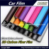Os adesivos de automóveis body wrap total 3D do rolo de película de vinil de fibra de carbono